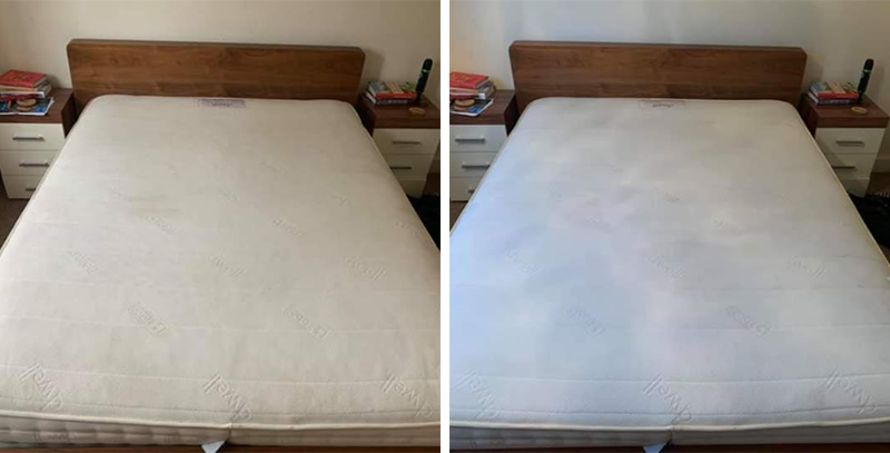 Mattress cleaning before and after