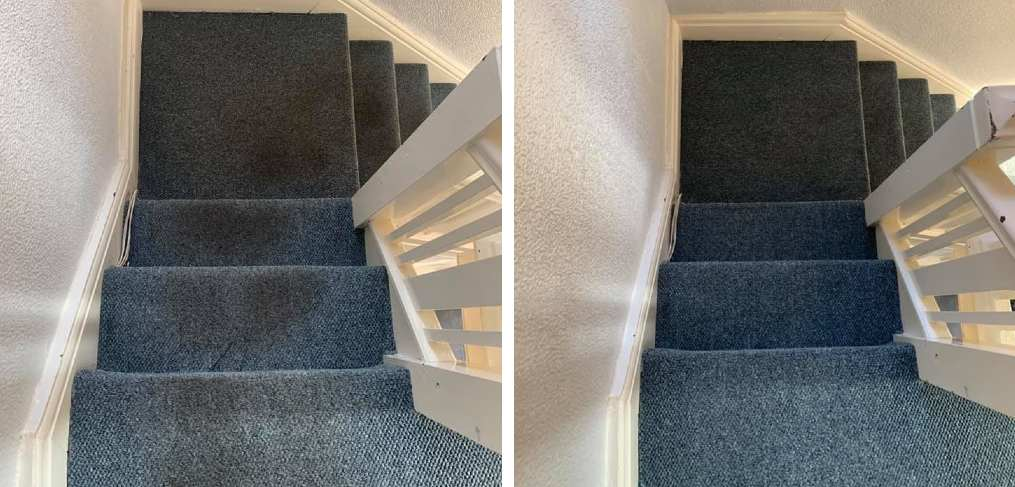Before & After Ceaning The Stairs